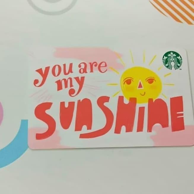 Jual Starbucks Card You Are My Sunshine Special Gift Edition Unregistered Jakarta Barat Ichiro Ouji Tokopedia