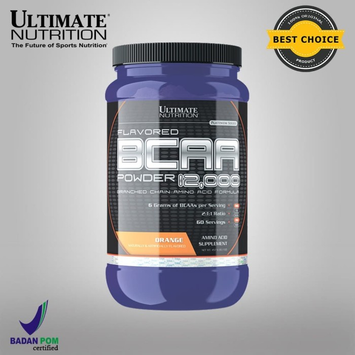 Foto Produk BCAA FLAVORED POWDER, 475gr Orange - ULTIMATE NUTRITION. dari Ultimate Nutrition