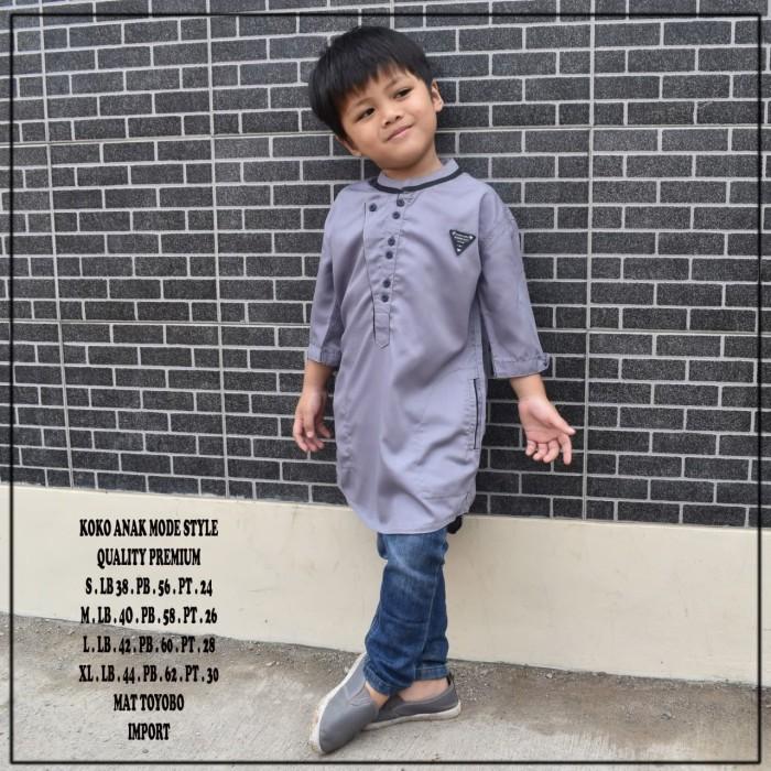 Foto Produk Koko anak model chief terlaris. fashion muslim - Abu-abu, S dari rabiah_store