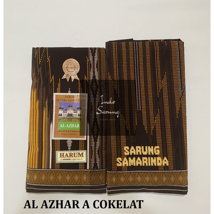 Foto Produk Sarung Samarinda Al Azhar harum Type A - Cokelat dari indosarung