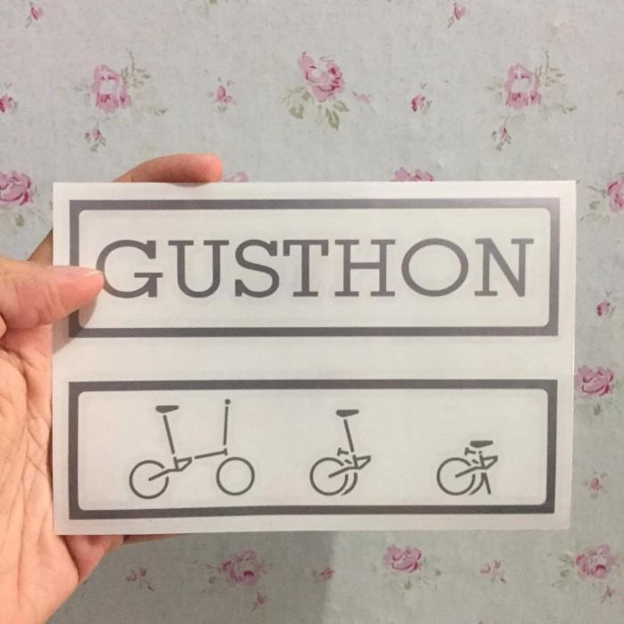 Foto Produk CUTTING STICKER FRAME SEPEDA GUSTHON GUST FNHON TEXT LOGO dari Three Sixty Toys