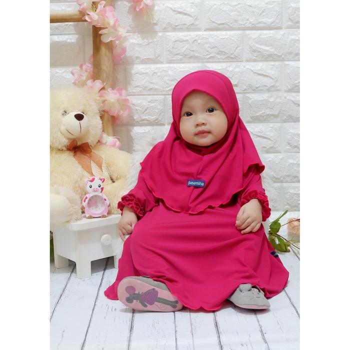 Foto Produk Baju muslim anak/ gamis anak syari/ baju muslim anak perempuan - Fuschia dari arraihan_collection