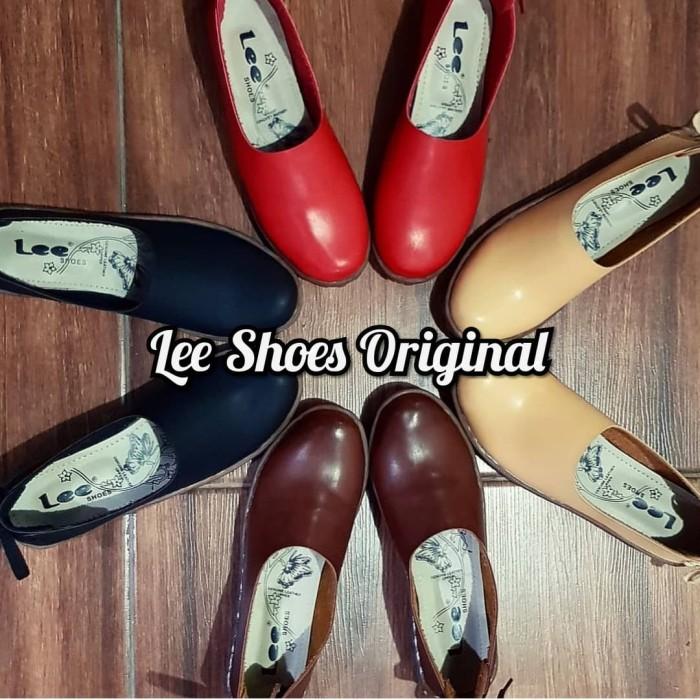 Jual Sepatu Wanita Flat Shoes Sol Lentur Kickers Kw Krem Shoes
