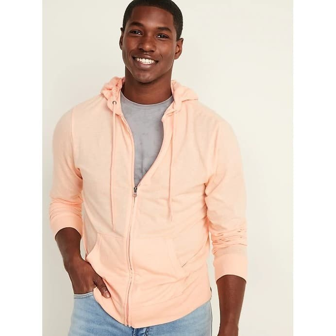 Foto Produk Jaket Old Navy Soft Washed Slub Knit Zip Hoodie Peachy Original dari OTOMO Store
