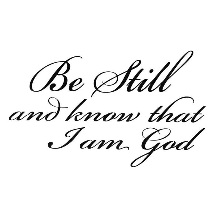 Be Still And Know That I Am God Wall Decor from ecs7.tokopedia.net