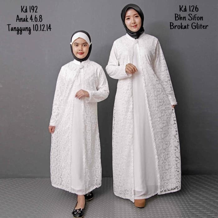 Jual Busana Muslim Family Set Baju Gamis Putih Busana Muslim Baju Jakarta Barat Paimanagustina Tokopedia