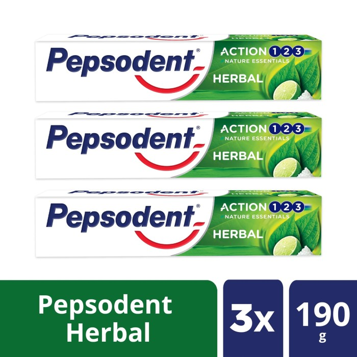 Foto Produk Pepsodent Action 123 Pasta Gigi Herbal 190G Multipack dari Unilever Official Store