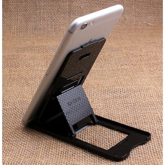 Foto Produk Universal Plastic Foldable Adjustable Stand Smartphone Mini Desk Stati dari Toko Digital Shop