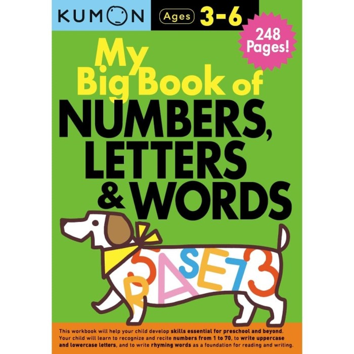 Foto Produk Buku Anak - Kumon - My Big Book of Numbers, Letters & Words dari Kumon Publishing INA