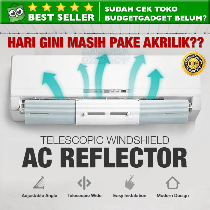 Jual Cover Pelindung Angin AC Adjustable Windshield Talang ...