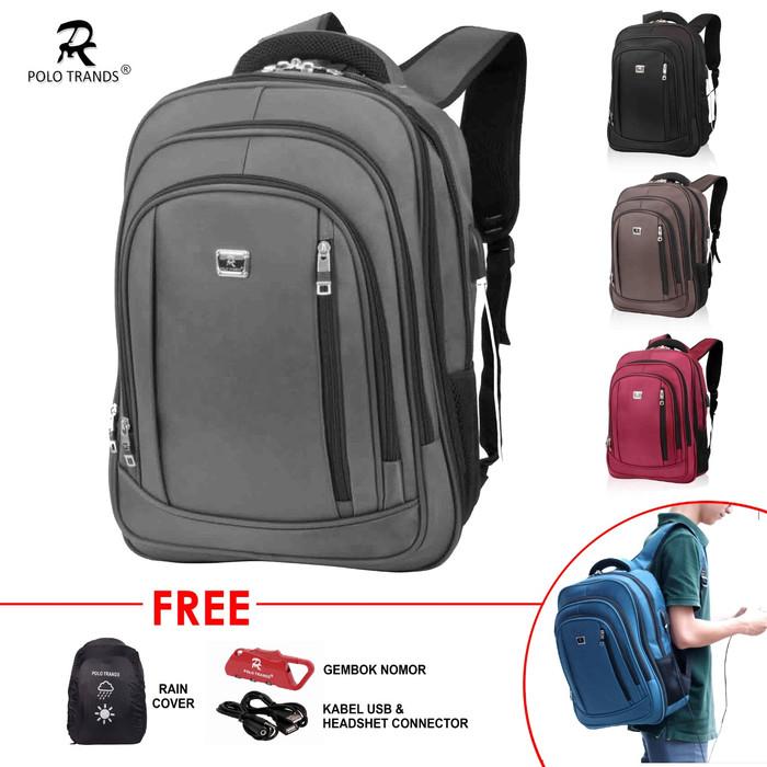 Foto Produk Polo Trands EXPANDABLE Edition Backpack 26L 36103 - Tas Ransel Laptop - Abu -abu Tua dari Polo Trands Official