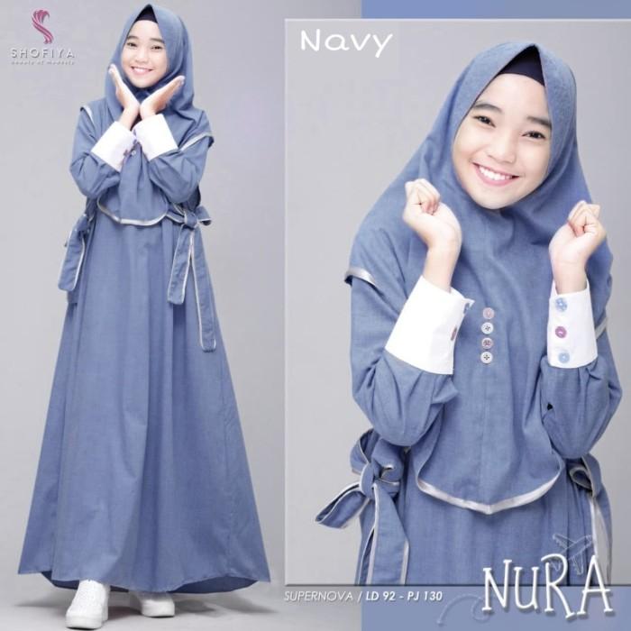 Foto Produk Nura# baju muslim# gamis# murah# terbaru dari Harfhasion