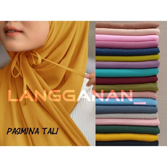 Jual Hijab Pasmina Tali 175x75 Jilbab Pashmina Tali Diamond Kota Bogor Langganan Tokopedia