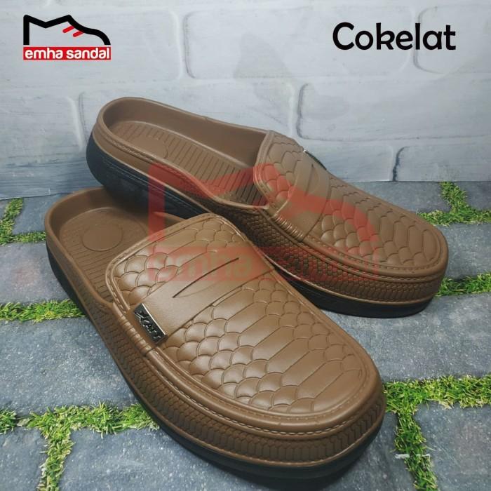 Foto Produk Sepatu Sandal/Sendal Karet ATT ABK 581 Pria/Cowok Dewasa - 40, Cokelat dari emha sandal