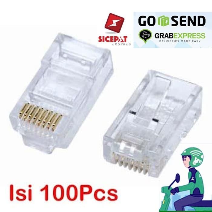 Foto Produk Konektor RJ45 Cat 5e Untuk Konektor Kabel LAN dari Ugat Uget