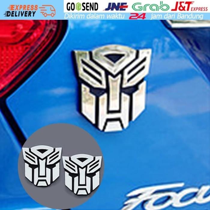 PREMIUM Sticker Silver ABS Emblem Universal Auto Car Decal 3D Logo Badge Decal