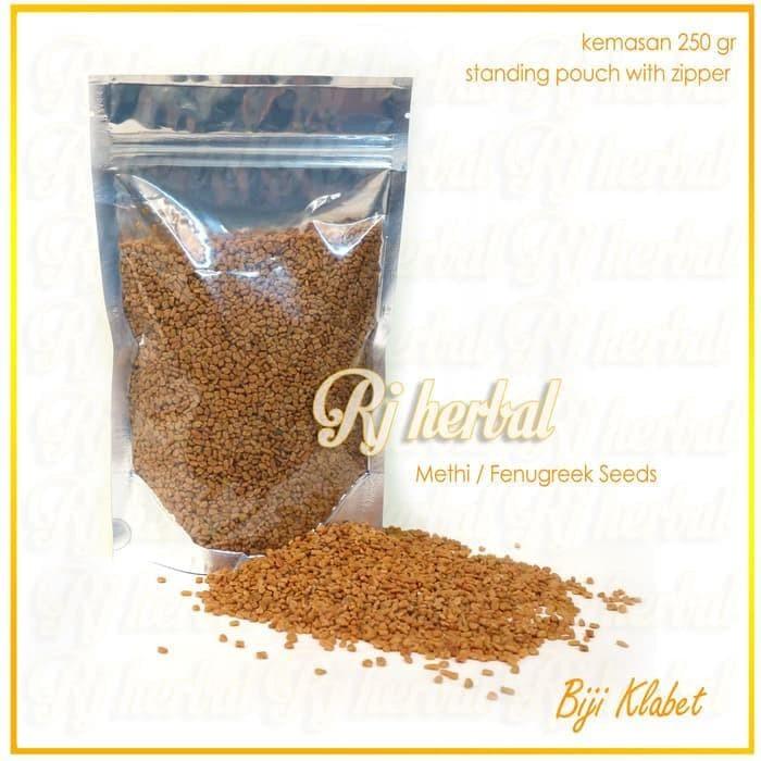 Foto Produk Big Seller!! 250 Gram Biji Klabet / Methi Seeds / Fenugreek dari yayu_kmulyani-1 shopp