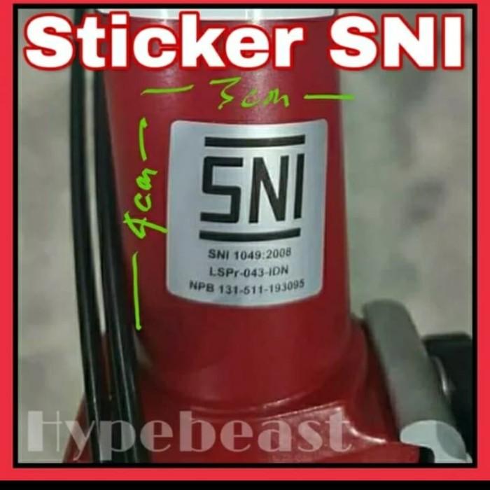 Foto Produk Ready Stock Sticker Stiker Brompton SNI Sepeda Lipat Folding Bike OCC dari Bos Gede