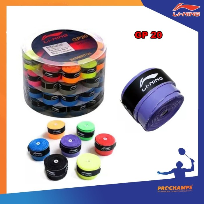 Foto Produk Grip Badminton - LINING GP20 GP 20 - ORIGINAL 1PC dari pro champion