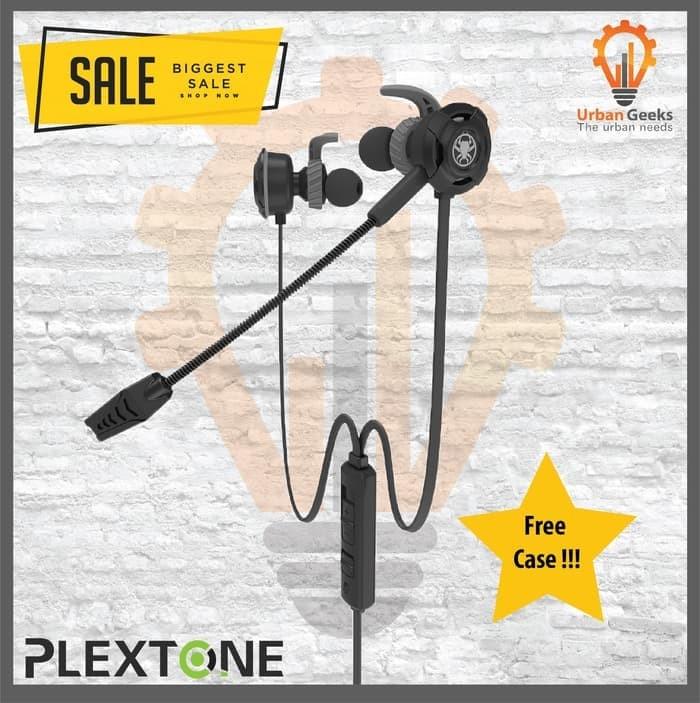 Foto Produk Plextone G30 with Mic Stereo Bass Gaming Hammerhead Earphone Not BX240 - Hitam dari Urban Geeks