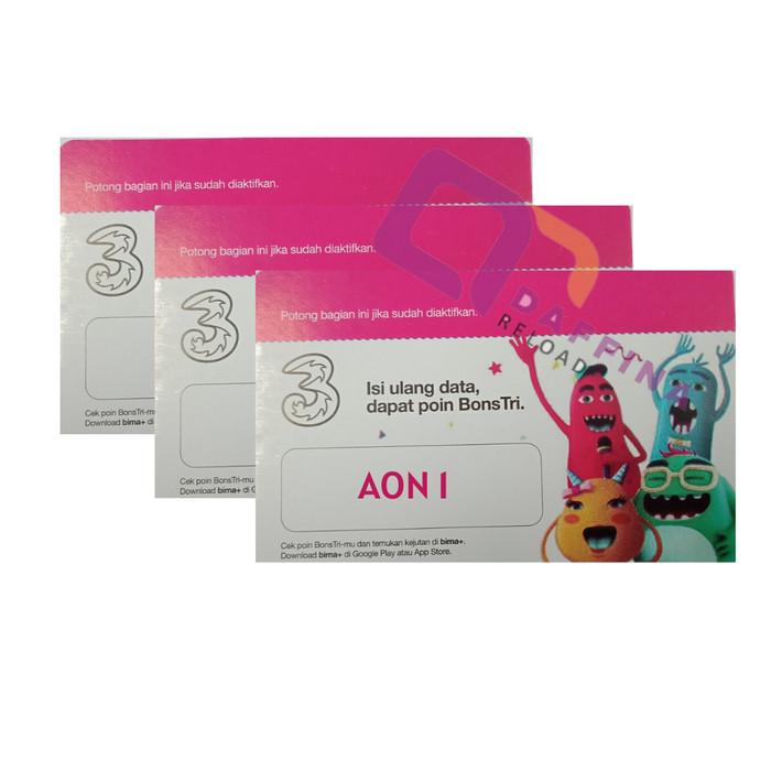Jual Voucher Fisik Paket Data Internet Tri New Aon 1 Gb Lokal Jabo Jakarta Selatan Daffina Reload Tokopedia