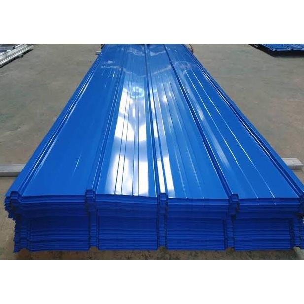 Jual Atap Spandek Warna 0 30 Mm X 80 Cm Per Lembar 3 M Biru