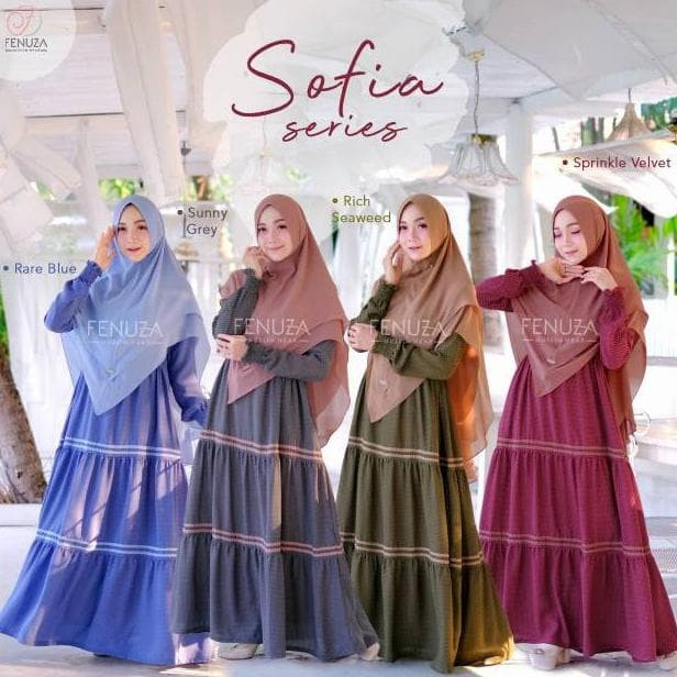 Jual Terlaris Gamis Fenuza Sofia Dress Gamis Polkadot Cantik Terbaru Jakarta Barat Fauzan Fashion Tokopedia