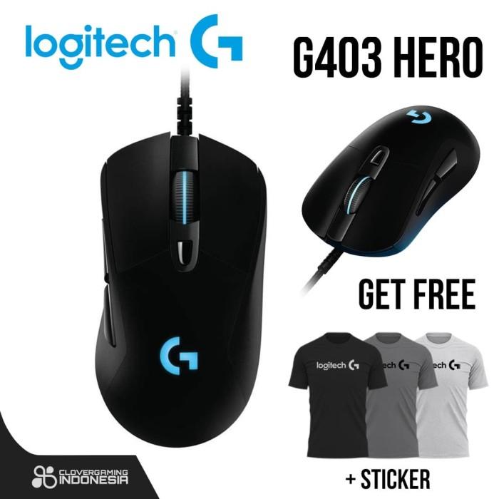 Foto Produk Logitech G403 HERO 16K Lightsync RGB - Lightweight Gaming Mouse dari Clover Gaming Indonesia