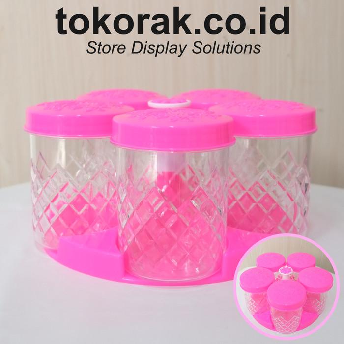 Foto Produk TOPLES PLASTIK MITSUKO SET LEBARAN KUE SNACK KACANG PERMEN KURMA - Merah Muda dari SINAR KARYA RAKINDO