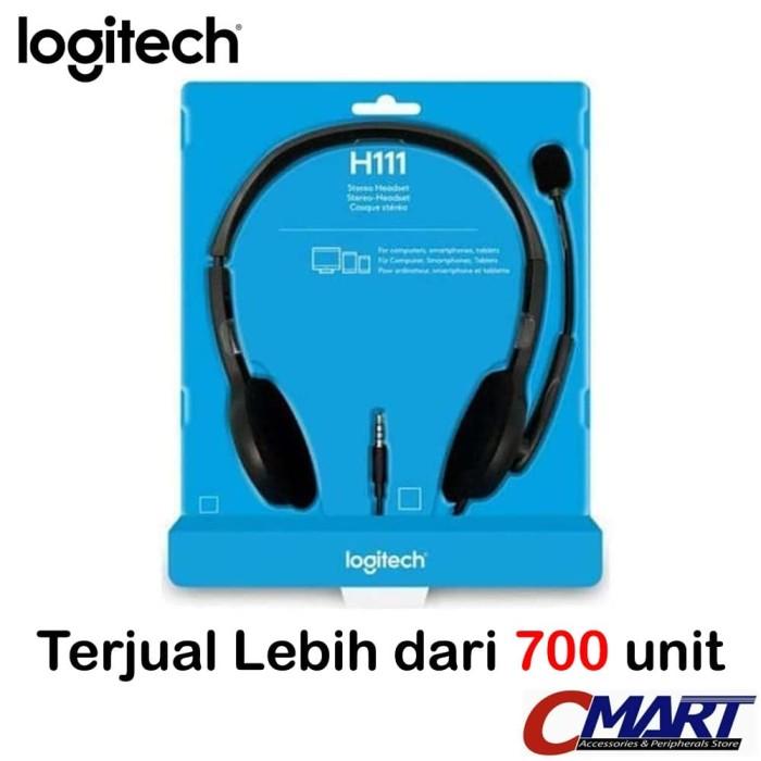 Foto Produk Logitech h111 Stereo Headset With Mic Headphone Earphone dari CMart Computer