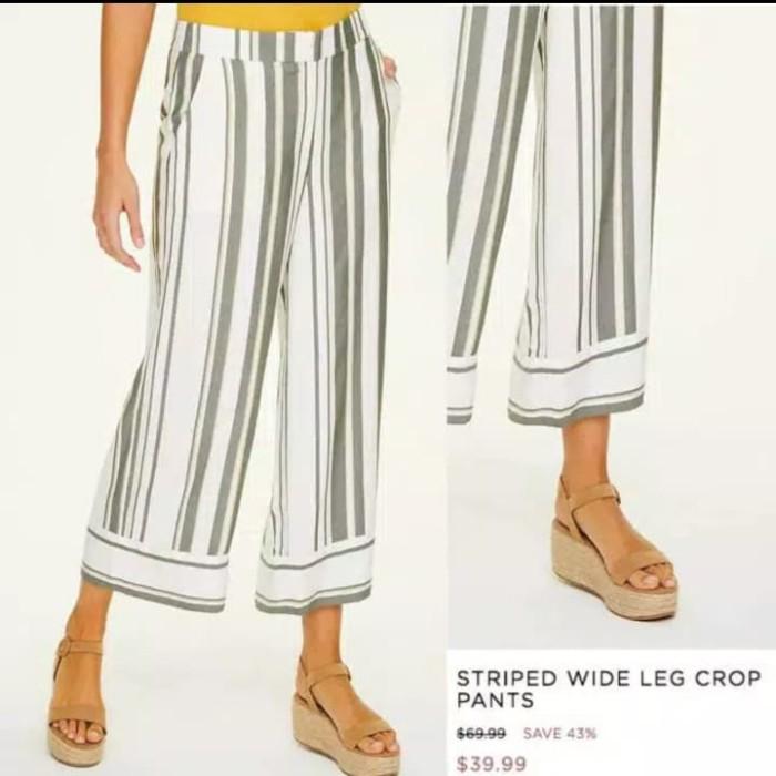 Foto Produk L*ft Striped wide Pants - Striped, S dari Jualan meriah