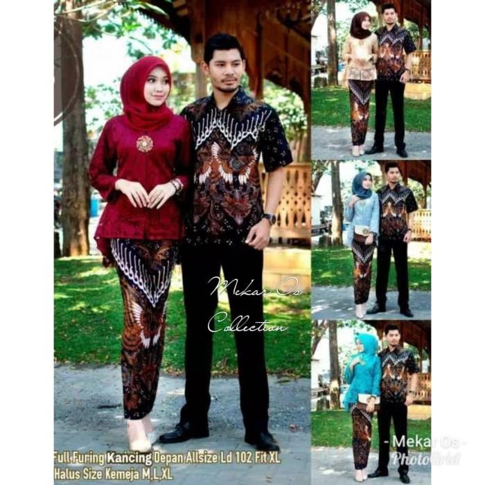 Foto Produk Kebaya Batik Couple Kutubaru Brokat 2728 dari Mekar OS