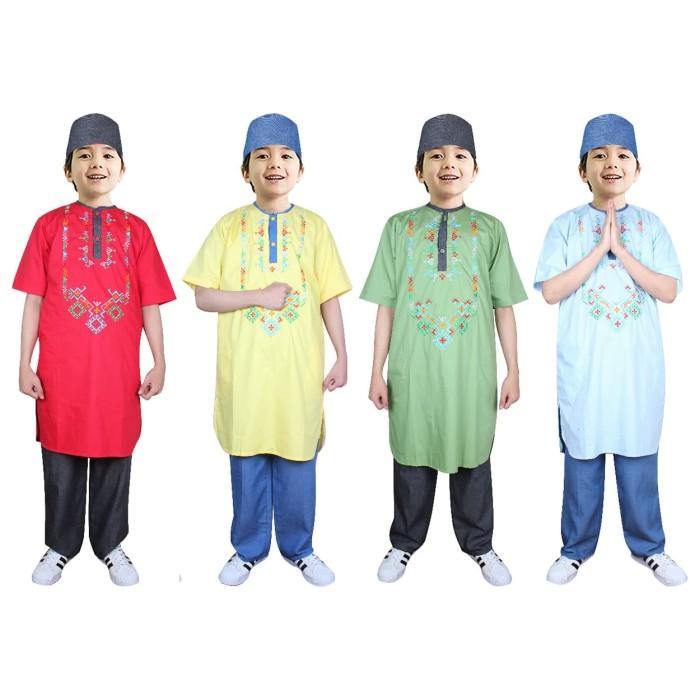 Foto Produk Fayrany FKW-014 Baju Muslim Koko Pakistan Anak Warna size 6 - 15 Tahun - Biru Muda, 6 Tahun dari Fayrany