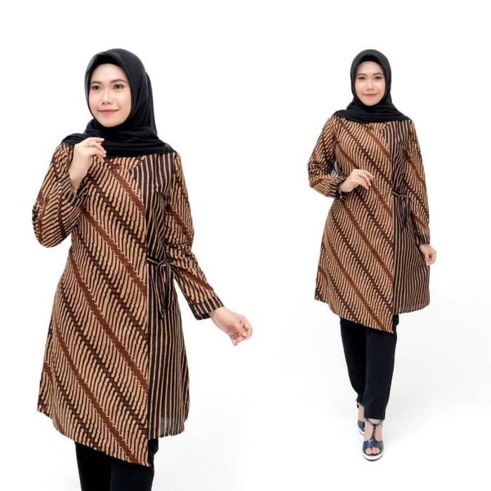 Foto Produk Tunik Batik Kimono Atasan Wanita Terbaru dari Meyda_Batik