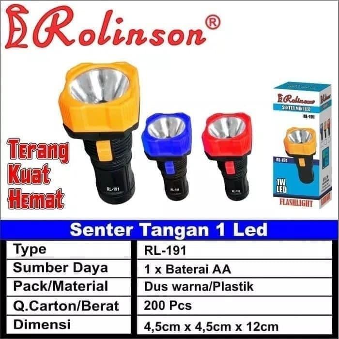 Foto Produk Senter mini LED RL 191 1pc baterai aa obral dari grosirltc