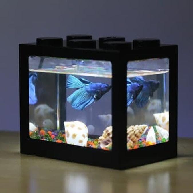 Jual Aquarium Mini Susun Lampu Led Baterai Ikan Hias Cupang Akuarium Mini Jakarta Barat Hayati Stores Tokopedia