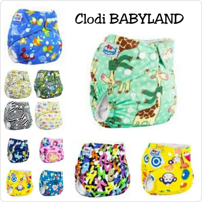 Foto Produk Clodi Babyland +2 insert microfiber(popok kain cuci ulang/clothdiapers dari kios anakmama