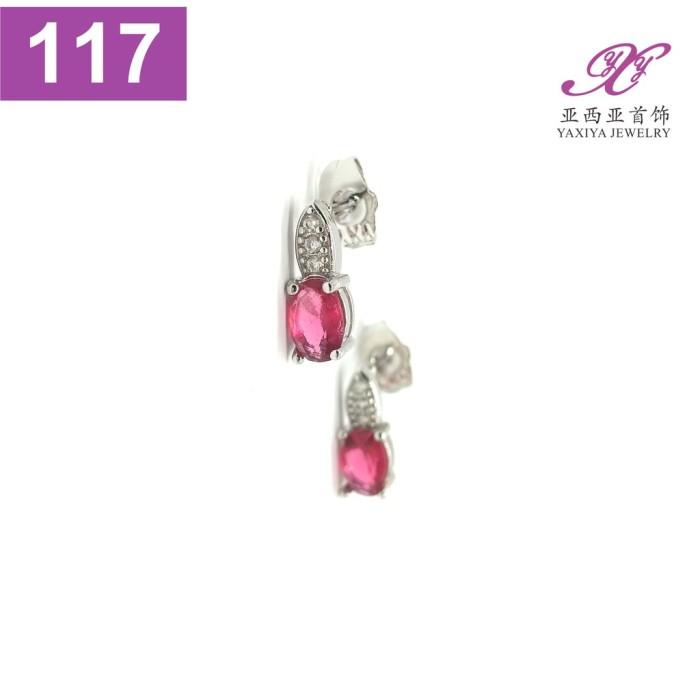 Foto Produk Anting Tusuk Permata Emas putih Perhiasan imitasi Yaxiya Jewelry 117 dari rasayangjauh