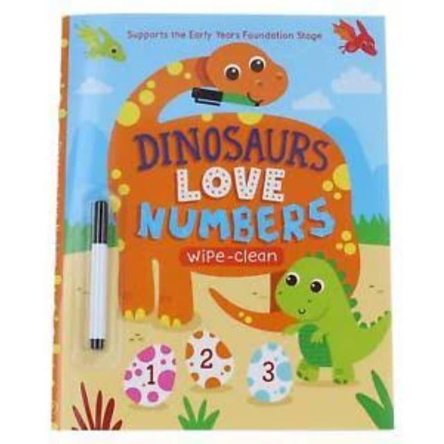 Foto Produk [Buku] Dinosaur Love Numbers. Wipe-Clean - Big Bad Wolf dari ombotak