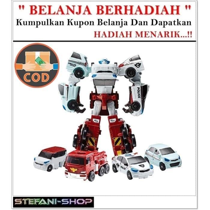 Foto Produk TOBOT MINI QUATRAN 4IN1 GABUNG MOBIL 4 JADI 1 ROBOT dari Stefani-Shop