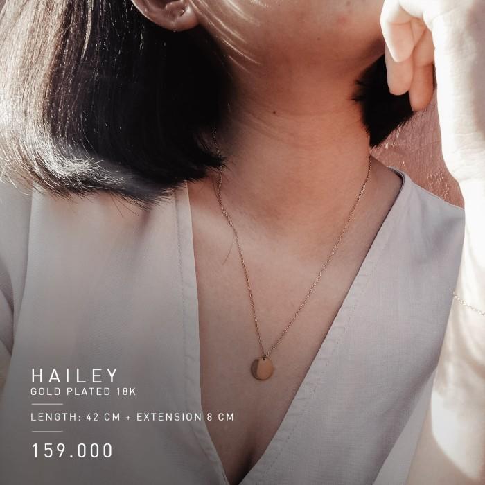 Foto Produk PREMIUM HAILEY NECKLACE ( GOLD PLATED 18 K) - ROSE GOLD dari Hello friday Shop
