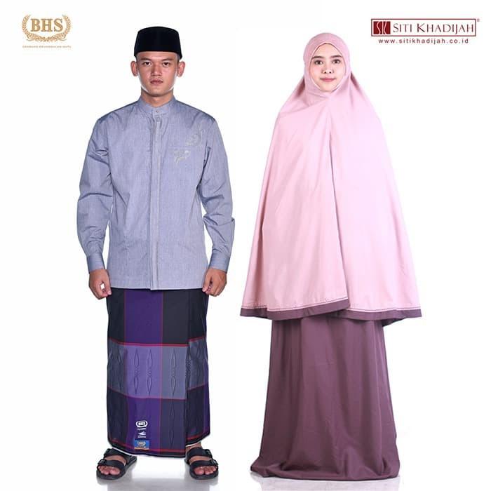 Foto Produk [Paket Ramadan I] Exclusive Set Sarung BHS x Mukena Siti Khadijah dari Sarung BHS Official