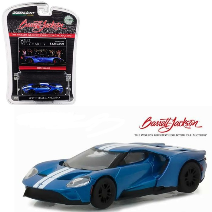 Foto Produk PROMO Greenlight 1/64 2017 Ford GT Blue Barrett Jackson Scottsdale dari Vovo Toys