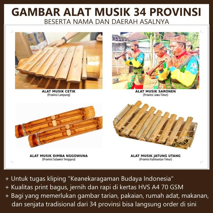 Jual Gambar Alat Musik Tradisional 34 Provinsi Di Indonesia Kota Surakarta Tugas Sekolahan Tokopedia