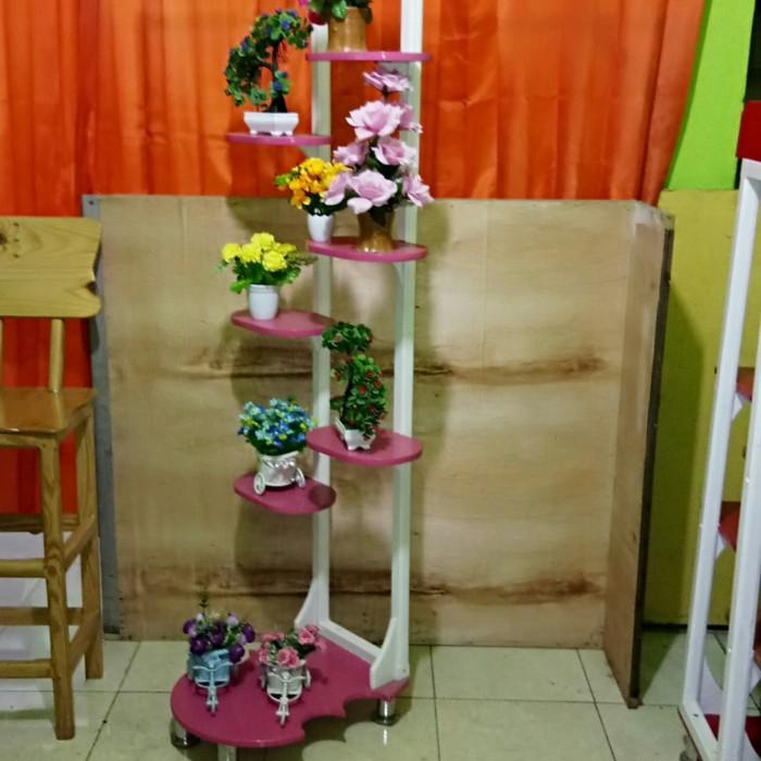 Jual Rak Bunga Kayu Minimalis Merah Kota Medan Ramos Ponsel Tokopedia