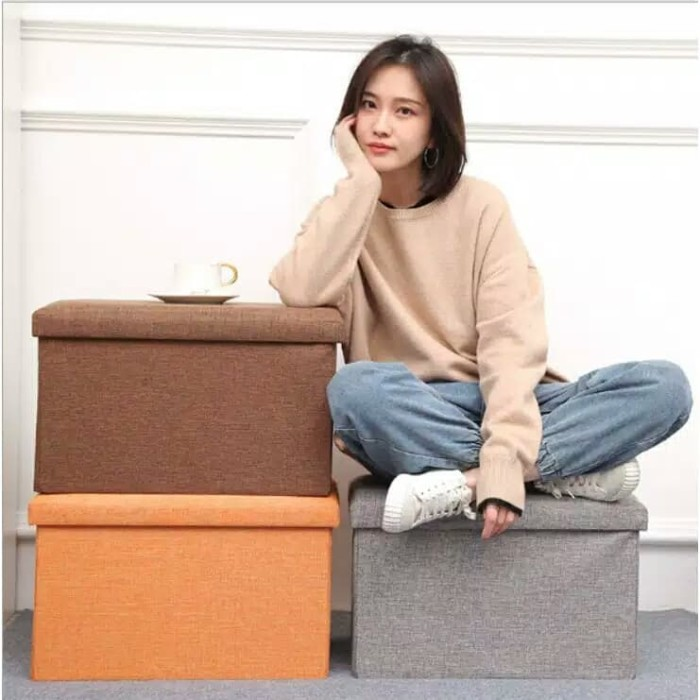 Foto Produk [1.3 kg] KURSI BANGKU LIPAT STORAGE BOX TEMPAT dari FashionIdola