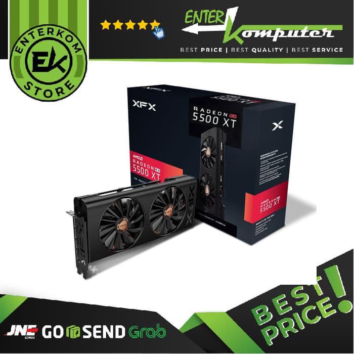 Foto Produk XFX Radeon RX 5500 XT 8GB DDR6 - RX-55XT8DFD6 dari Enter Komputer Official