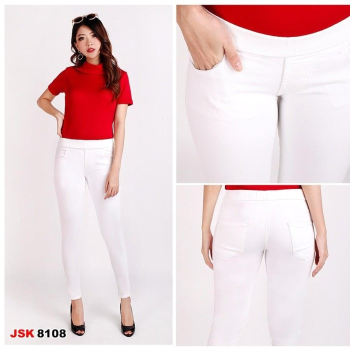 Jual Celana Legging Putih Celana Panjang Legging Jeans Wanita Lejing Awet Jakarta Pusat Nikohuangstore Tokopedia