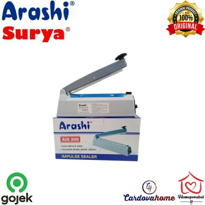 Foto Produk Arashi Impulse Sealer AIS 200 20cm Alat Perekat Press Plastik AIS200 dari toko - Miftahul