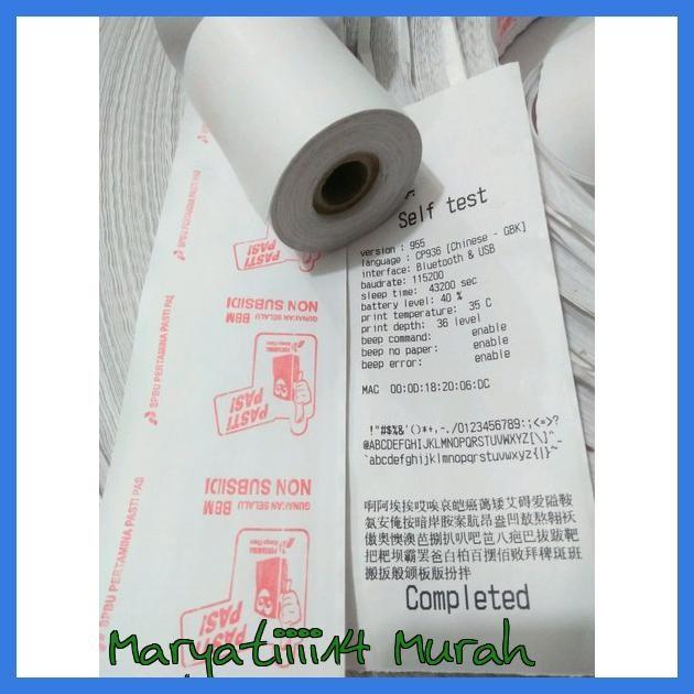 jual murah kertas kasir logo pertamina pasti pas ukuran 58x47mm jakarta barat maryatiiii14 murah tokopedia tokopedia